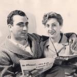 Elena La Verde con il marito Enzo La Malfa
